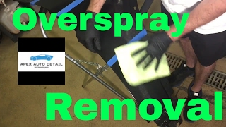 Overspray Removal: from clear coat only