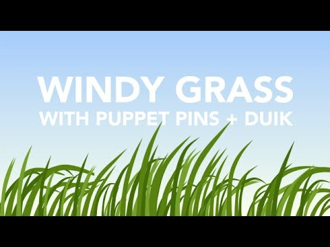 Windy Grass After Effects Tutorial - Puppet Pins + DUIK - Augustus the Animator