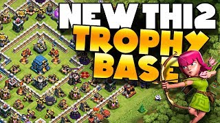 NEW TH12 - 3 Inferno Trophy Pushing Base Design | Clash of Clans