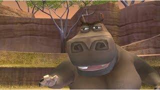 Мадагаскар 2 игра мультфильм в Африке в Уровень 11 Ухаживание за Глорией, смотреть прохождение