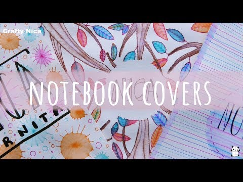 DIY: NOTEBOOK COVER IDEAS 😍 HOW TO DECORATE NOTEBOOKS  ✨ Designs for school projects