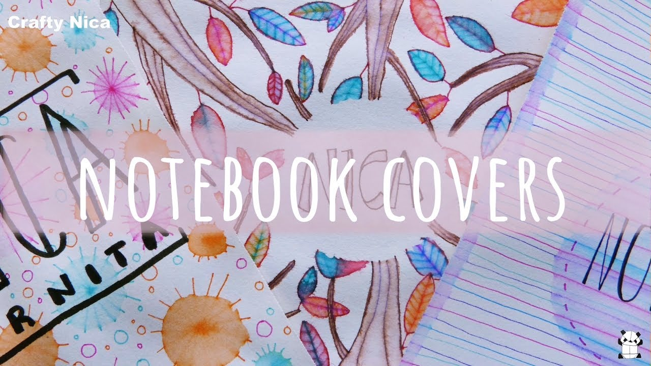 Diy Notebook Cover Ideas How To Decorate Notebooks Designs