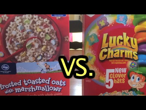 Lucky Charms Comparison With Generic Brand Youtube