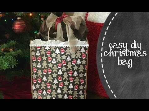 Easy DIY Christmas Gift Bag