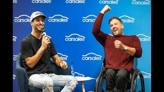 When Daniel Ricciardo and Dylan Alcott visited the carsales office