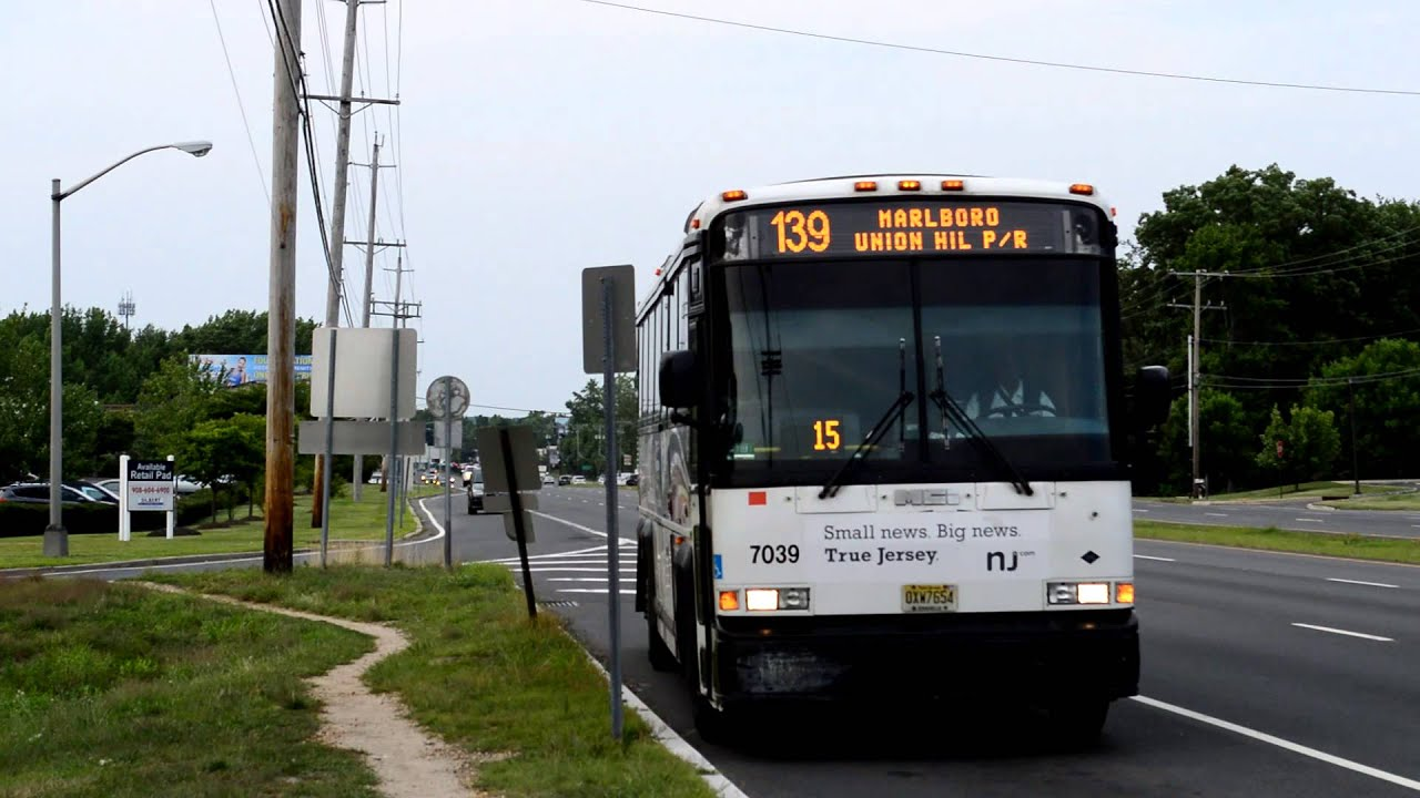 new jersey transit : route 9 & robertsville road [ 64h, 64j, 133