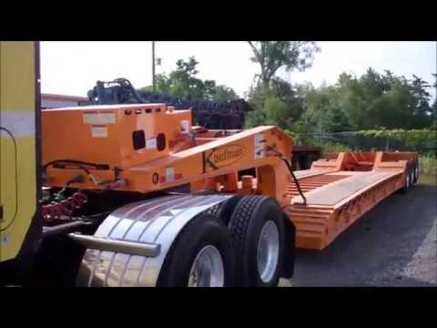 LOWBOY FUN: proper uncoupling from a lowboy/RGN/double-drop trailer