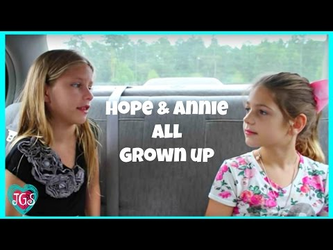 Hope & Annie ALL GROWN UP movie | What will it be like? | Kids Fun Jazzy Girl Stuff