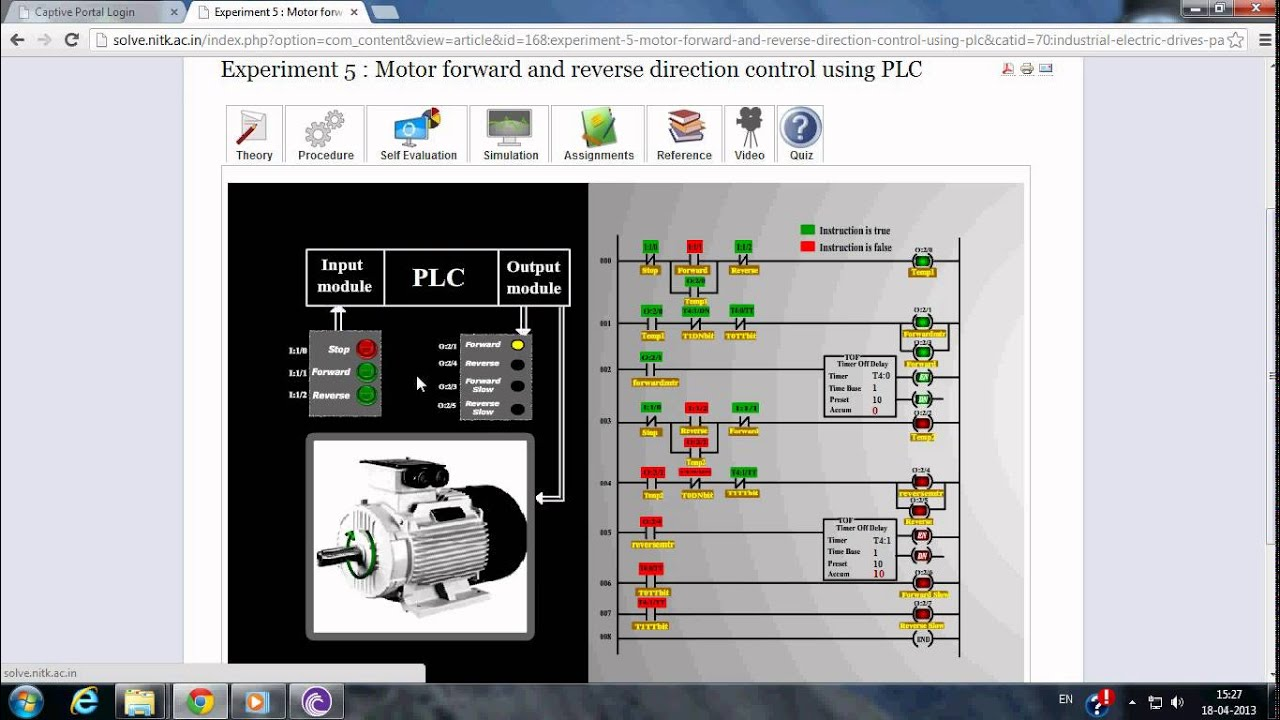 Motor forward and reverse direction control using PLC - YouTube