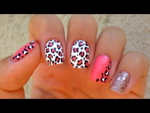 Easy Leopard Print Nail Art
