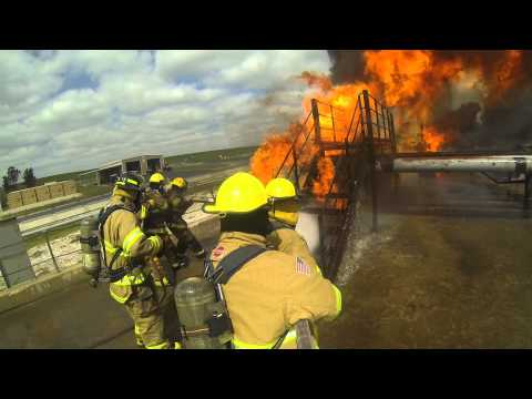 SALT LAKE AND RICHMOND FIREFIGHTERS TRAINING AT COLLEGE STATION, TEXAS. 2014 1080 HD