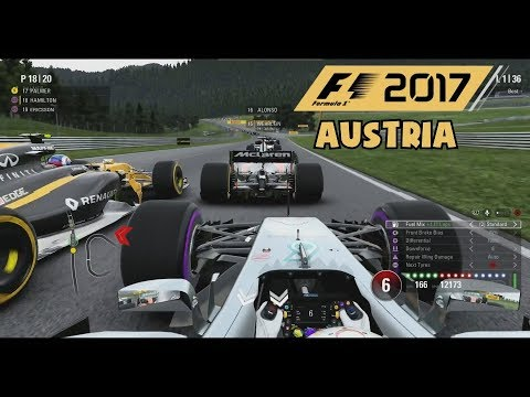 F1 2017 Gameplay - Austria 50% Race as Lewis Hamilton