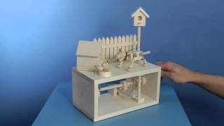 The Unwelcome Dinner Guest - Wooden Automata Project