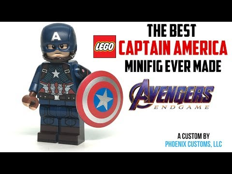 The BEST LEGO CAPTAIN AMERICA Minifigure EVER MADE (ENDGAME Suit - Phoenix Customs)