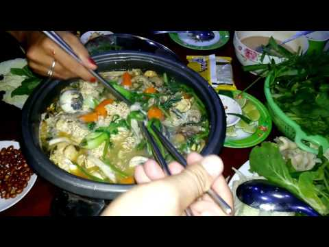 Asian Food - Cambodian Family Food - Eating Baby Duck Egg And Chicken Soup - Youtube