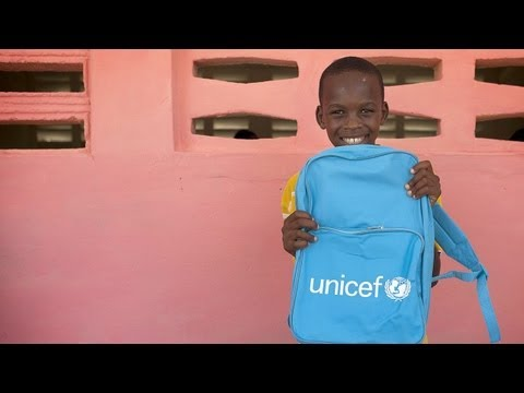 UNICEF and partners work to provide a free education for all Haiti's children