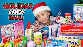 HOLIDAY Candy Haul GIANT Stocking Surprise Opening HD - PLP Thumbnail