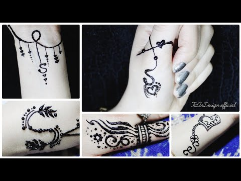 New S Letter Tattoo Designs Beautiful S Letter Mehndi