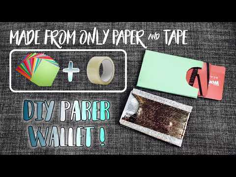 How To Make A Paper Wallet | DIY Paper Wallet | DIY ID Holder | Easy DIY and Crafts | Diytube