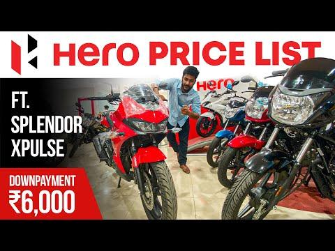 2021 All Hero Bikes & Scooters Latest Price List 🏍️ Ft. Hero Splendor & Hero XPulse 🔥 Hero Motocorp