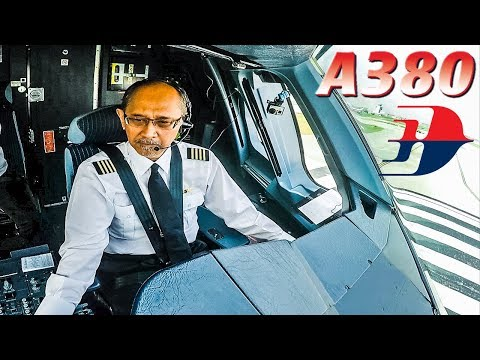 Great View of AIRBUS A380 Captain during takeoff!