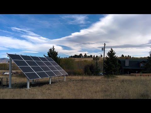 Montana Solar Array Installation