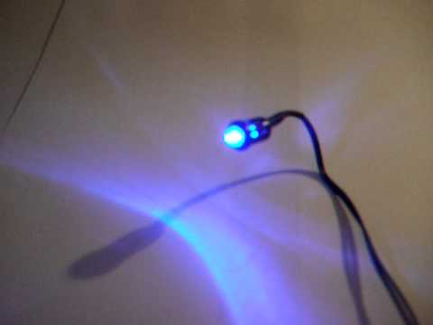 Flashing 12v Blue Ultra Bright Led For Car Alarm Youtube