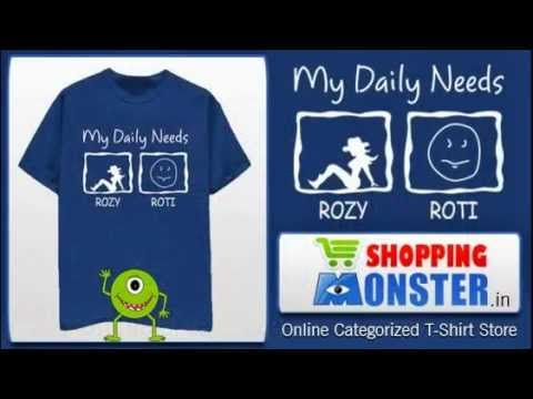 Shopping Monster - Online T Shirt Store  | Shopping India | My Daily Needs Rozy Roti |