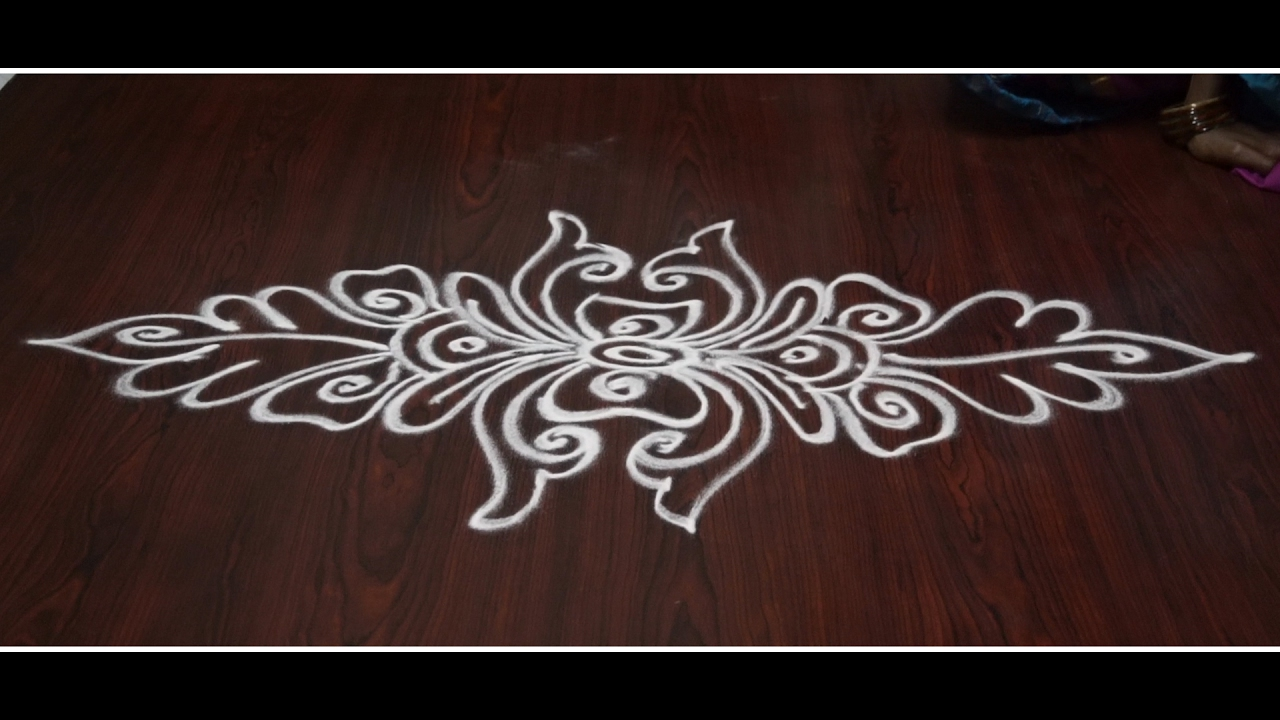 simple and small rangoli designs without dots || simple ...