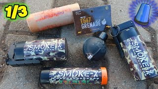 Militär Rauchgranaten/Splittergranate/Rdg2 | Polizei gerufen ?
