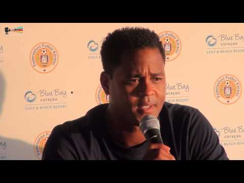 Press Conference 31 08 2015 Patrick  Kluivert regarding Curacao vs El Salvador by miv.tv curacao