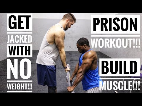 Prison Workout | Get A Strong Chest & Huge Triceps Without Weights  | Episode 1
