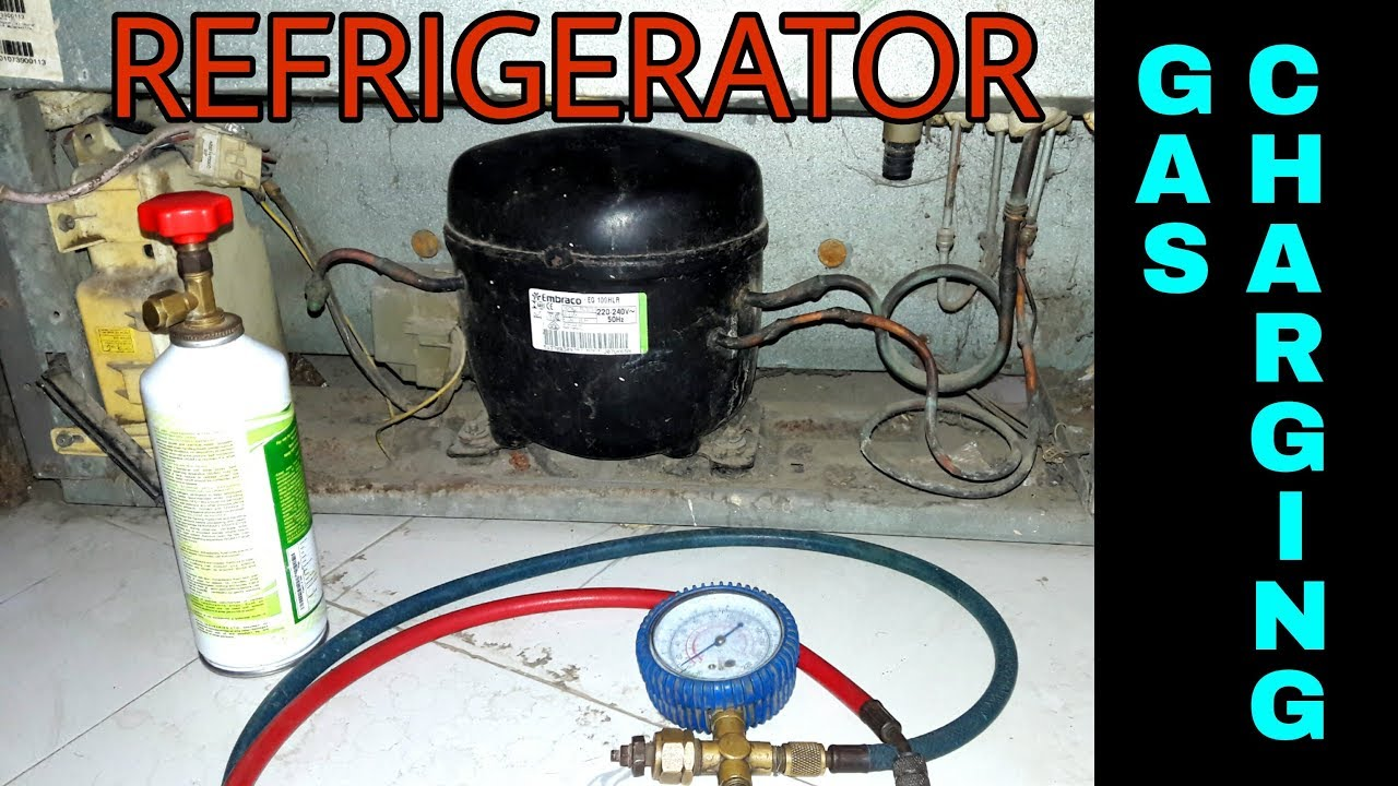 refrigerator gas charging fridge repair r134a in english
