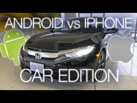 Android Auto vs. Apple Carplay in the 2016 Honda Civic