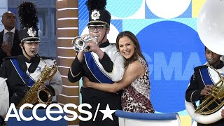 Jennifer Garner's Reaction To Her Birthday Surprise Marching Band Is The Best! | Access
