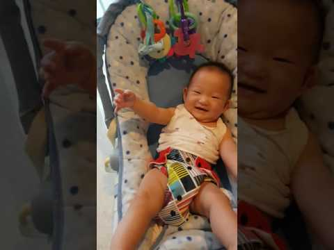 6 month baby laughing