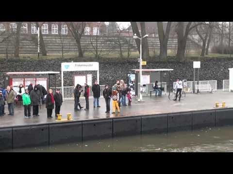 Hafenfähre HADAG Linie 62 Finkenwerder und zurück Hamburg Februar 2013 HD