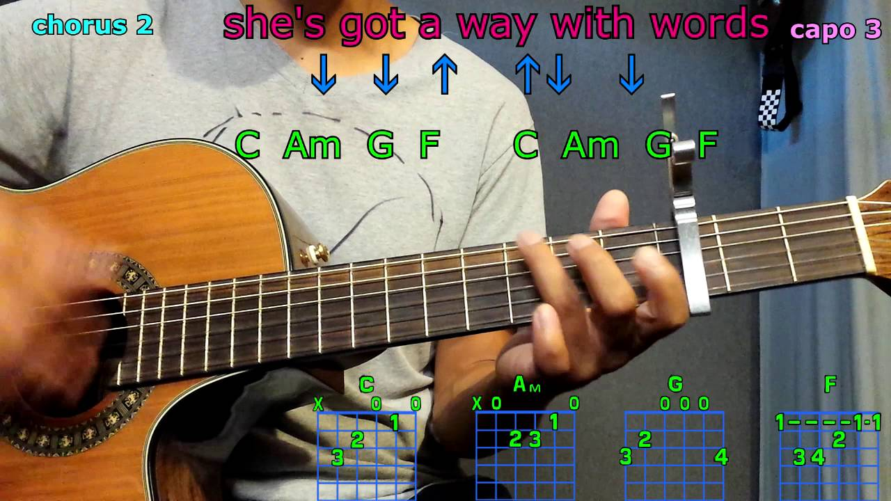 Shes Got A Way With Words Blake Shelton Guitar Chords Youtube