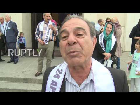 Iran: Protesters Demand Turkey Recognise Armenian Genocide On 102 Year Anniversary