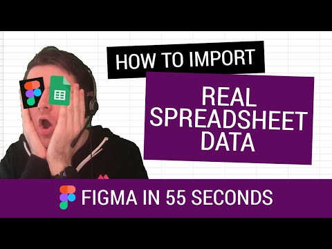 Figma in 55 Seconds: Syncing live spreadsheet data with Google Sync, Figma Tutorial