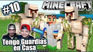 Tengo Guardias en mi Casa de Minecraft | Como hacer Golems | Juegos Karim Juega