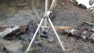 Запись звуков на речке Малый Бор