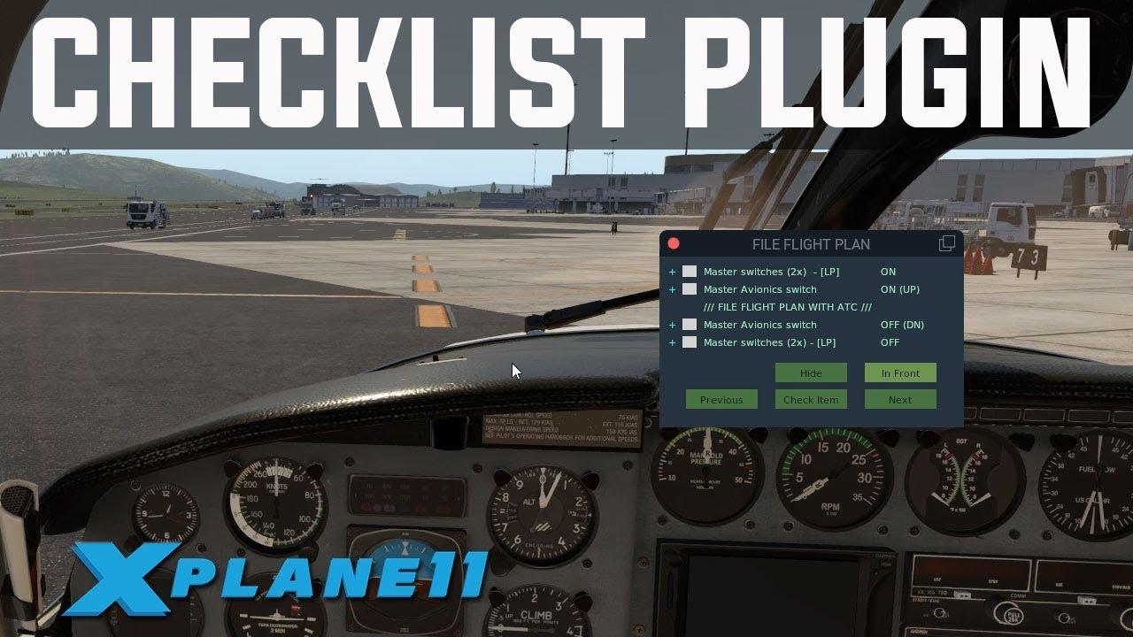 Excellent Checklist Plugin for X-Plane 11 | XChecklist