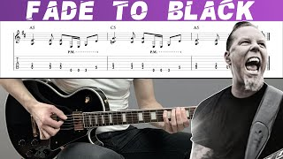 METALLICA - FADE TO BLACK (Guitar cover with TAB   Lesson)