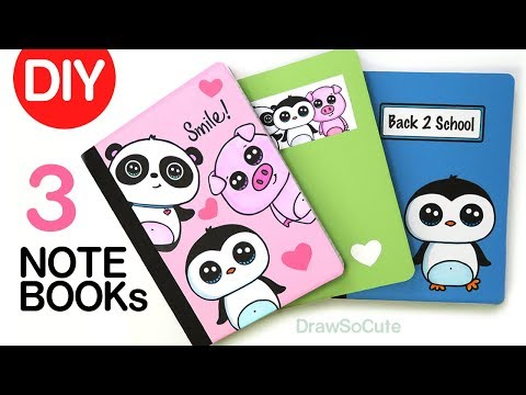 DIY Notebook Cover Designs for Back to School | Super EASY!