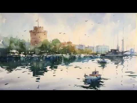 Watercolor Landscape Paintings – Artist Olga KHARCHENKO – Ukraine – Slide Show – Part 1