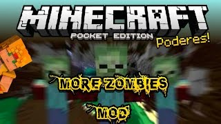 Minecraft PE 0.14.0 Mods - More Zombies Mod - Zombies con poderes!! - Pocket Edition