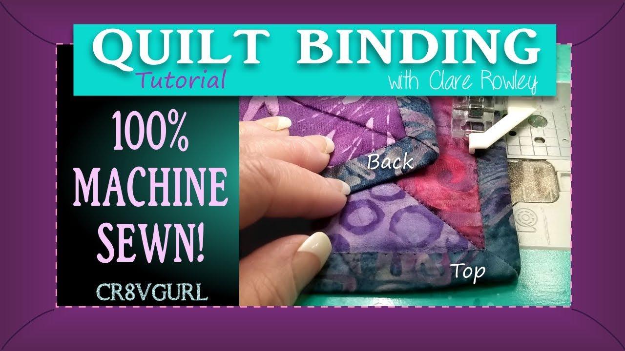 Quilt Binding - Mitered Corners By Machine - Episode 22 - YouTube : mitered quilt binding - Adamdwight.com