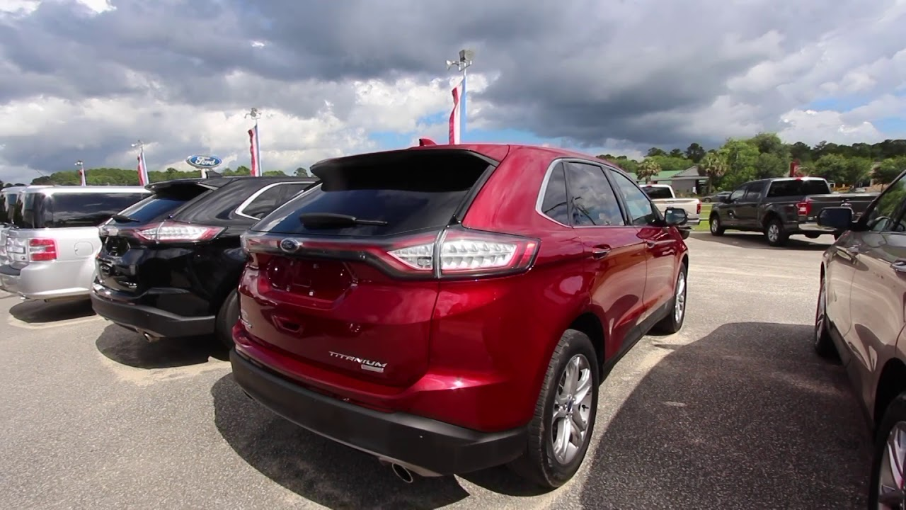 the 2017 ford edge titanium ruby red for sale review. Black Bedroom Furniture Sets. Home Design Ideas