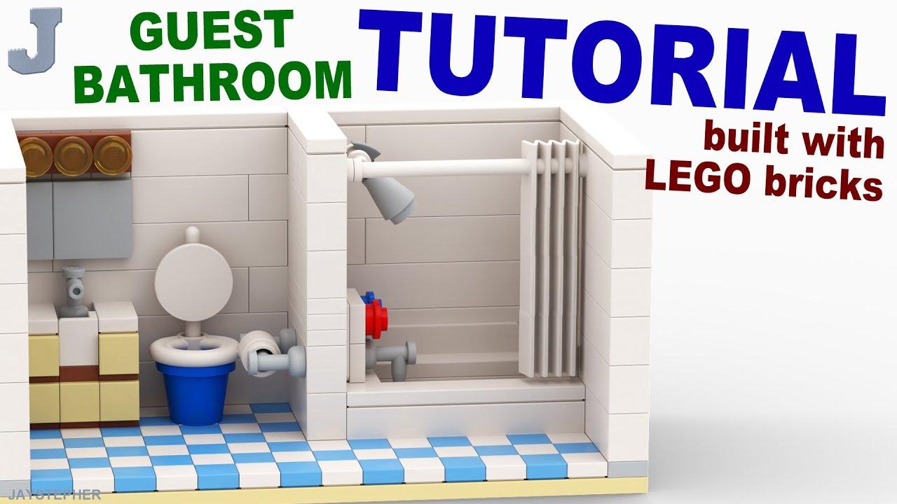LEGO Guest Bathroom TUTORIAL - YouTube